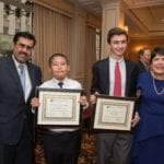 From Left: Principal Muniz, Jimmy Chen, Rafer Friedman and Dr. Castro