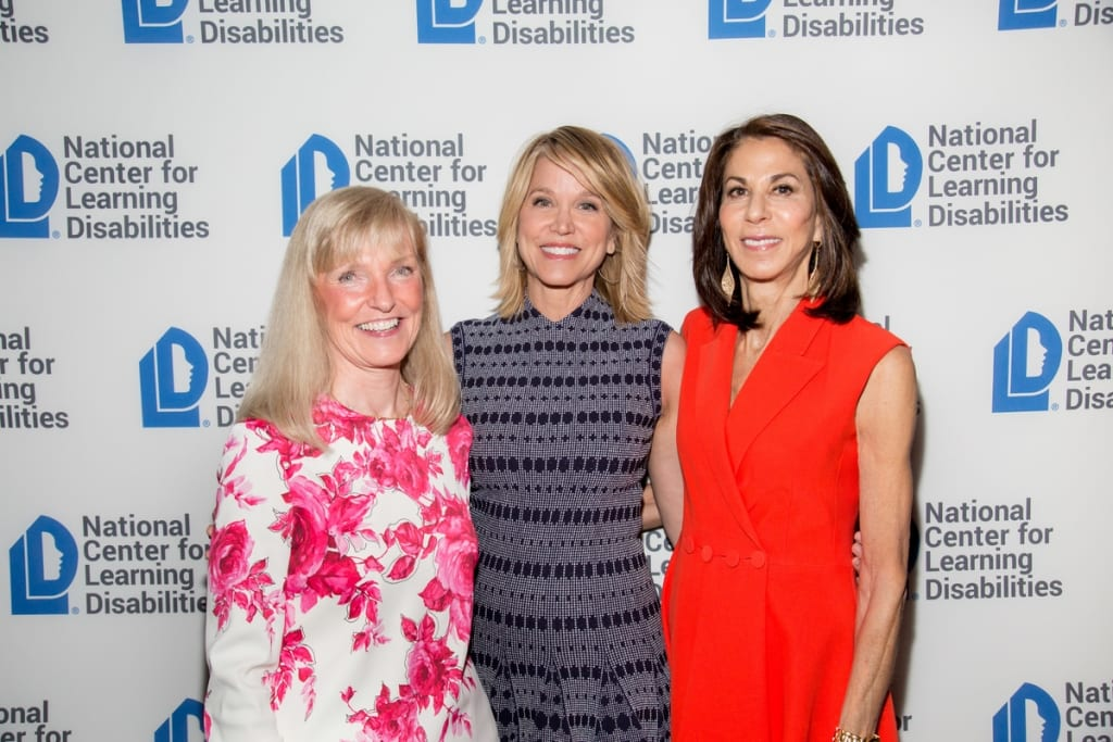Susan Giannino, Chairman, North America, Publicis Worldwide, Paula Zahn, Emcee and Nancy Poses, NCLD Benefit Chair