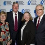 NCLD's Board Members, Kristy Baxter and Mark Griffin with Rayma Griffin and James H. Wendorf, Executive Director Emeritus, NCLD at NCLD's 39th Annual Benefit on March 9, 2016.