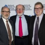 Dr. Sheldon Horowitz, NCLD with Dr. Tom Brown and Bob Cunningham, Poses Family Foundation at NCLD's 39th Annual Benefit on March 9, 2016.