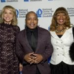 Master of Ceremonies Paula Zahn with honorees Daymond John and Margot John at NCLD's 39th Annual Benefit on March, 9 2016.