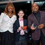 Honorees Margot John with presenter Max Ash and Honoree Daymond John at NCLD's 39th Annual Benefit on March 9, 2016.
