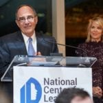 Fred Poses, Chairman, NCLD's Board of Directors, and Emcee Paula Zahn at NCLD's 39th Annual Benefit on March 9,2016.