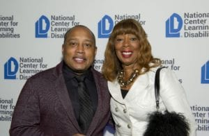 Daymond John with his mother, Margot John, recipients of the Distinguished Advocate Award at NCLD's 39th Annual Benefit on March 9, 2016.