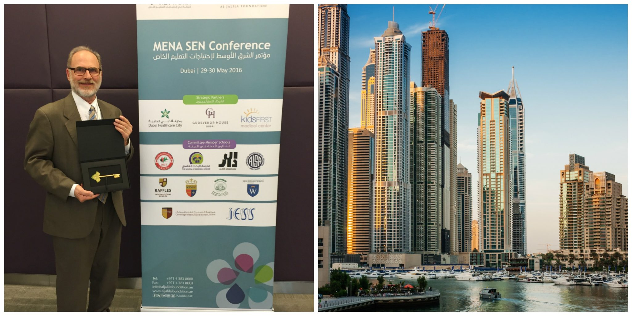 Sheldon Horowitz in Dubai for the first-ever Middle East North Africa Special Education Network conference.