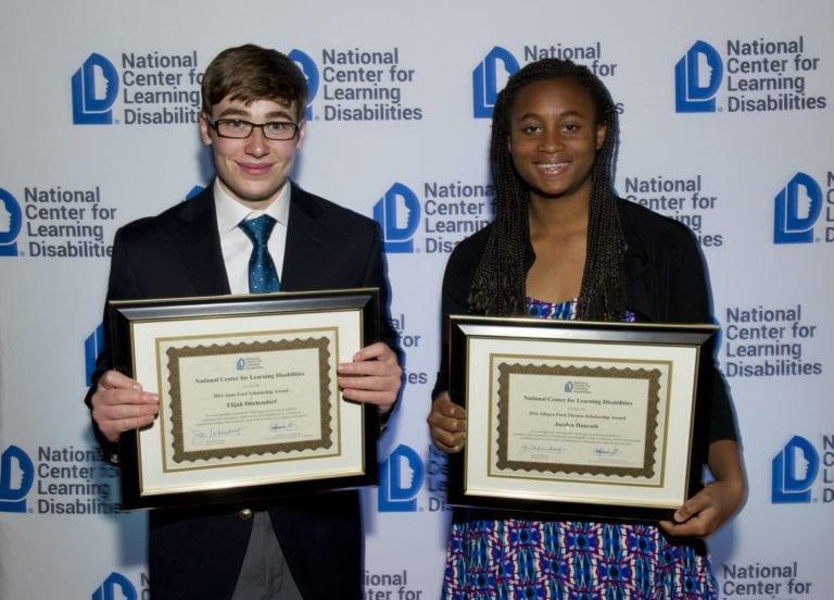 2016 winners Elijah Ditchendorf and Jocelyn Hanrath.