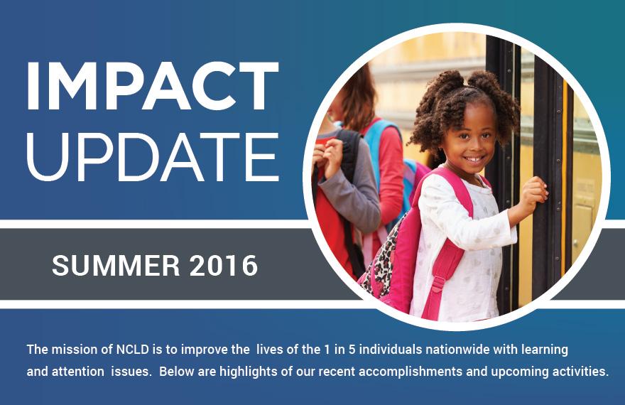 Impact Update - Summer 2016 Header Image